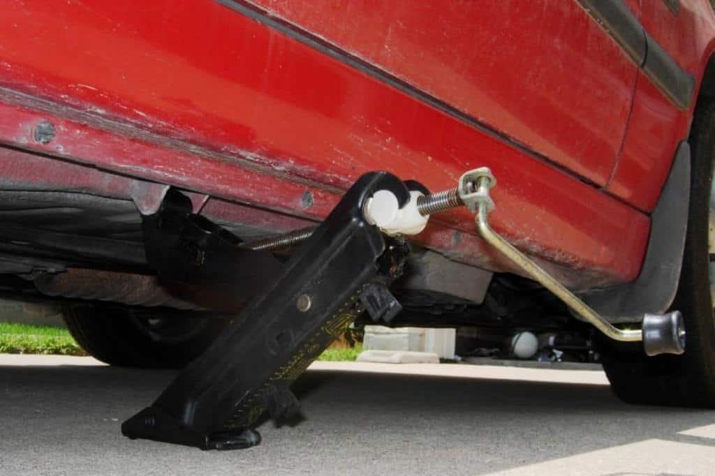 Broken car jack