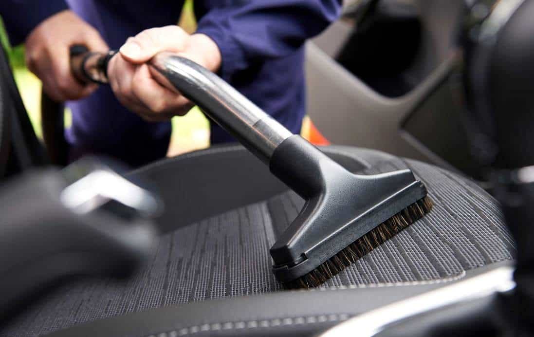 use vaccum cleaner to clean interior