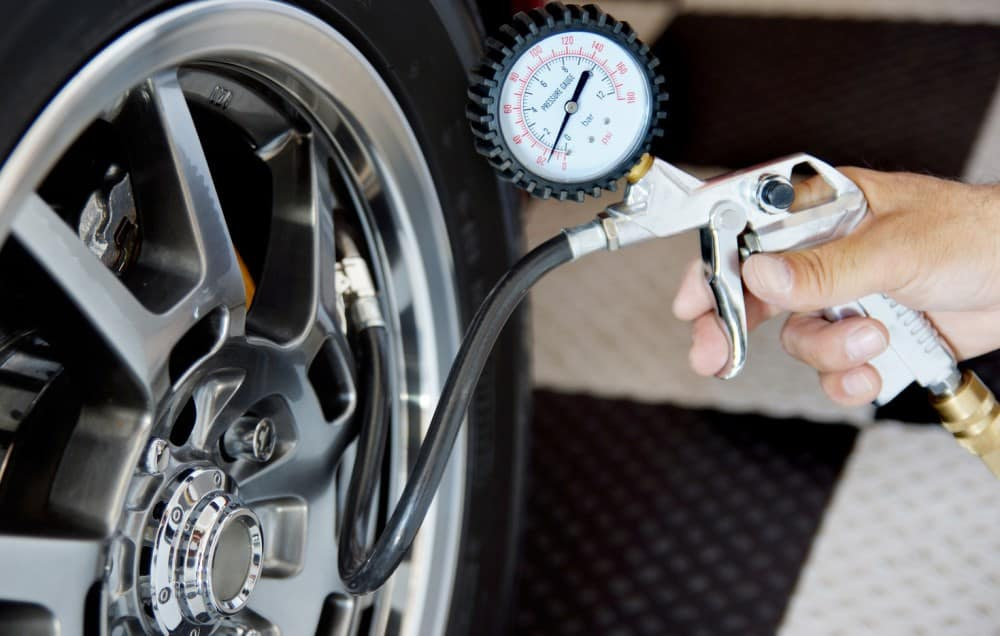 maintain recommended tire pressure