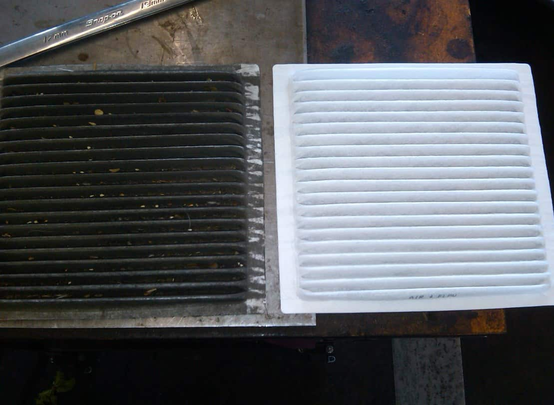 replace dirty air filter