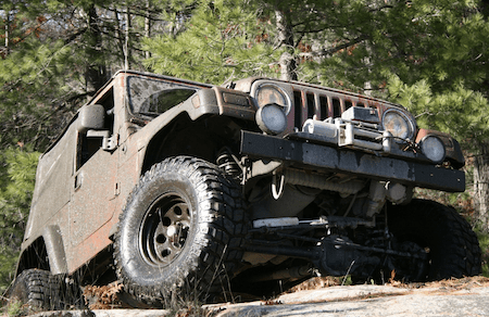 winch installed in 4wd vehicle