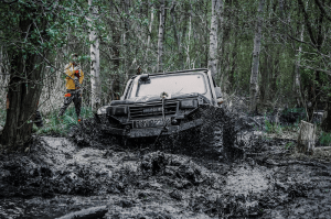 How to Get Out of Mud without a Winch?